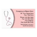 Tarjetas de la visita médicas de las mujeres tarjeta de visita