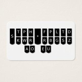 Tarjetas de llaves de la máquina de Steno del