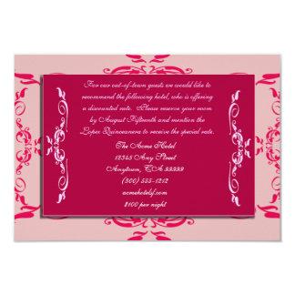 Tarjetas de los alojamientos de Quinceanera Invitación 8,9 X 12,7 Cm