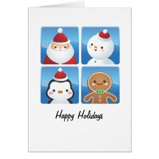 Tarjetas de los cuadrados del navidad