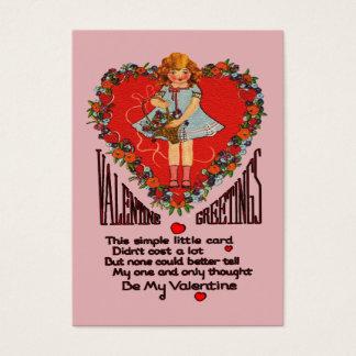 Tarjetas de los niños de la guirnalda y del chica