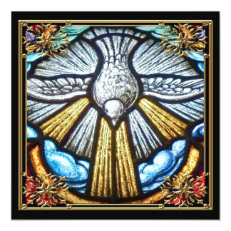 Tarjetas de luto de la paloma hermosa del vitral