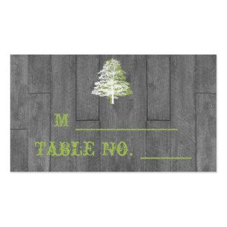 Tarjetas de madera del lugar del boda del granero plantilla de tarjeta de visita