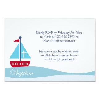 Tarjetas de moda del recinto de RSVP del bautismo Invitación 8,9 X 12,7 Cm