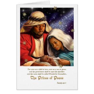 Tarjetas de Navidad afroamericanas del arte de la