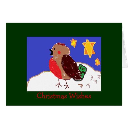 Tarjetas de Navidad atractivas del petirrojo