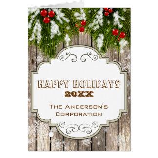 tarjetas de Navidad corporativas del pino del