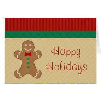 Tarjetas de Navidad de la galleta del pan de