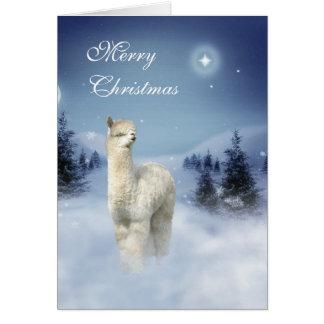 Tarjeta Tarjetas de Navidad de la noche del invierno de la