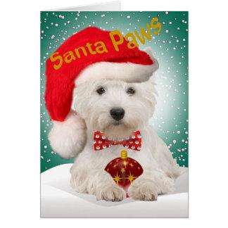 Tarjetas de Navidad de Westie Santa