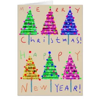 Tarjetas de Navidad del arte de los niños de las