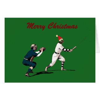 tarjetas de Navidad del béisbol