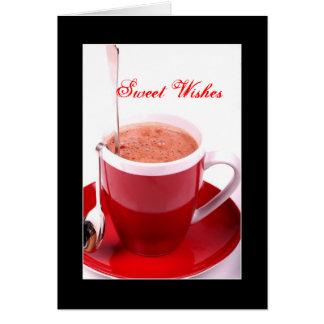 Tarjetas de Navidad del chocolate caliente