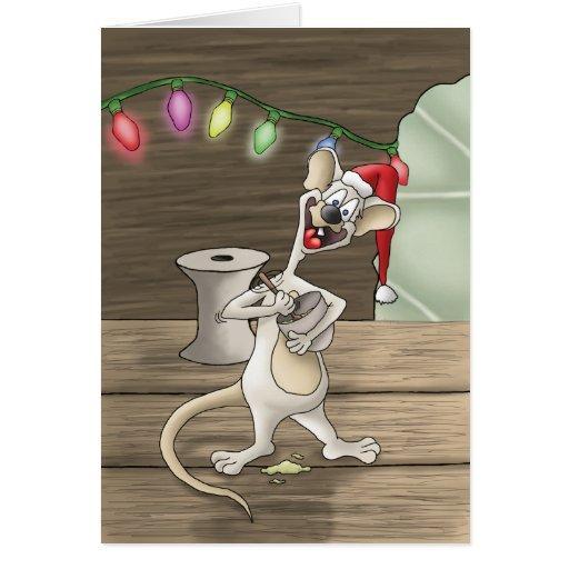 Tarjetas de Navidad del día de fiesta: Una criatur