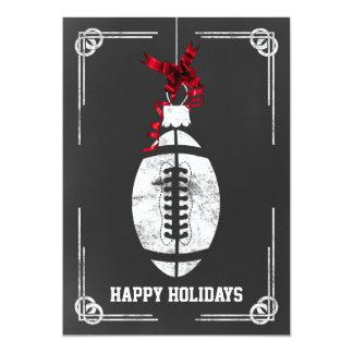 tarjetas de Navidad del futbolista de la pizarra Invitación 12,7 X 17,8 Cm