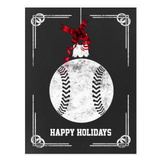 tarjetas de Navidad del jugador de béisbol de la