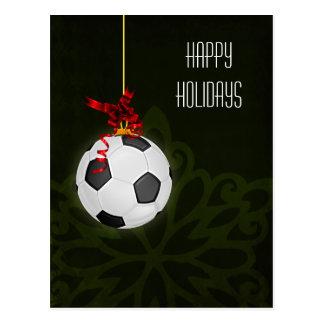 tarjetas de Navidad del jugador de fútbol