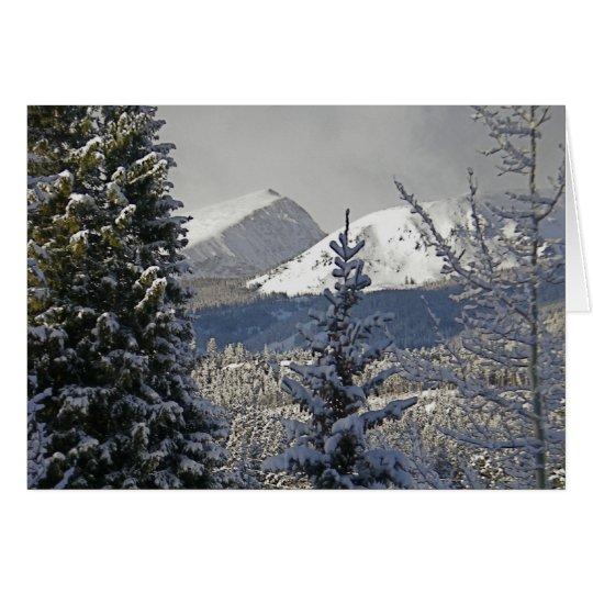 Tarjetas de Navidad del paisaje del invierno