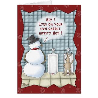 Tarjetas de Navidad divertidas: Aislamiento por