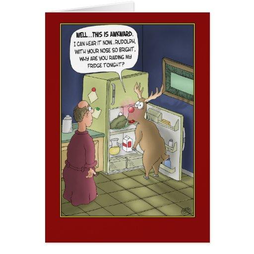 Tarjetas de Navidad divertidas: Ataque del refrige