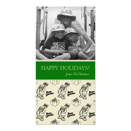 Tarjetas de Navidad divertidas de la foto de famil Tarjeta Personal