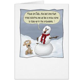 Tarjetas de Navidad divertidas: Dedos del pie para