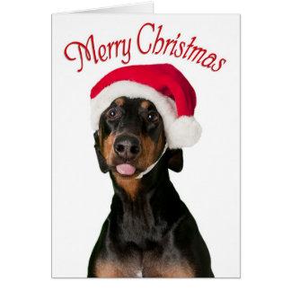 Tarjetas de Navidad divertidas del perro del