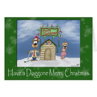 Tarjetas de Navidad divertidas: Doggone Felices Na