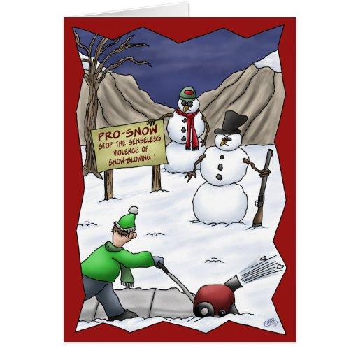 Tarjetas de Navidad divertidas: Favorable-Nieve