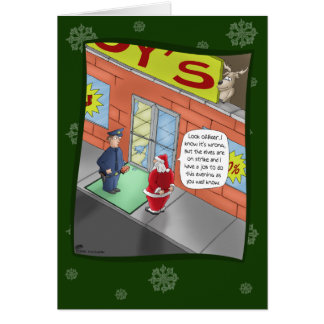 Tarjetas de Navidad divertidas: Fractura y el entr