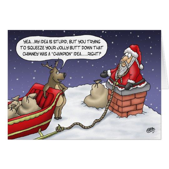 tarjetas de navidad divertidas idea alegre