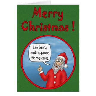 Tarjetas de Navidad divertidas: La aprobación de