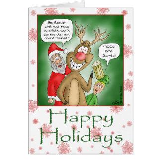 Tarjetas de Navidad divertidas: Lupulización de la