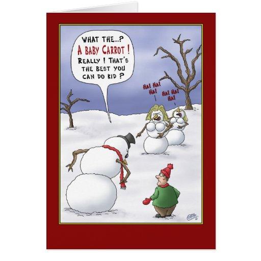 Tarjetas de Navidad divertidas: Materias del tamañ