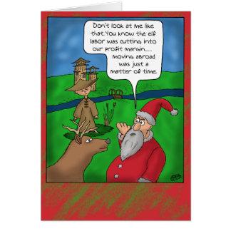 Tarjetas de Navidad divertidas: Navidad en el