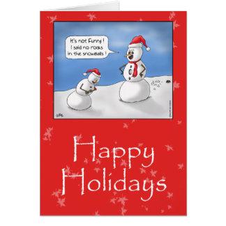 Tarjetas de Navidad divertidas: ¡Ningunas rocas!