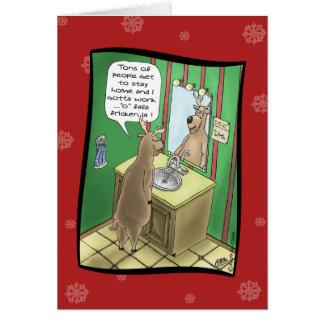 Tarjetas de Navidad divertidas: Nochebuena de trab