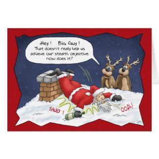 Tarjetas de Navidad divertidas: Objetivo de la cau