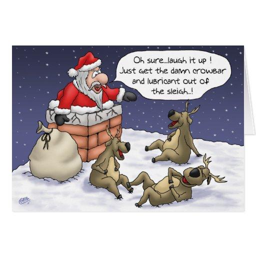 Tarjetas de Navidad divertidas: Pegado