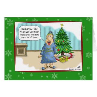 Tarjetas de Navidad divertidas: Regalo crepuscular