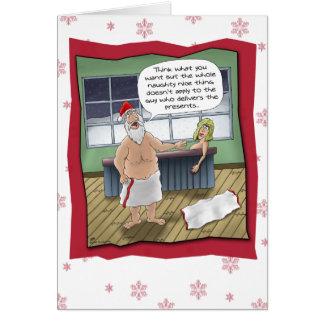 Tarjetas de Navidad divertidas: Regla traviesa y N
