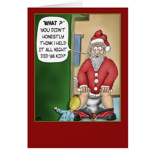 Tarjetas de Navidad divertidas: Rotura del cuarto