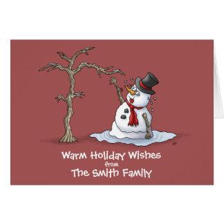 Tarjetas de Navidad divertidas: Saludos calientes