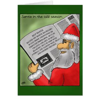Tarjetas de Navidad divertidas: Santa de la estaci