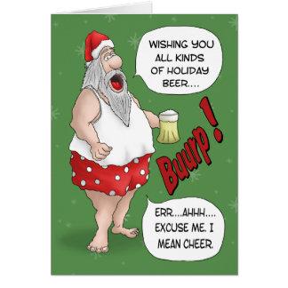Tarjetas de Navidad divertidas: Santa relajado