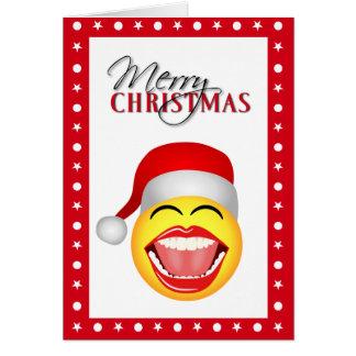 Tarjetas de Navidad divertidas sonrientes de Santa
