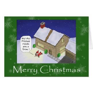 Tarjetas de Navidad divertidas Tejados echados