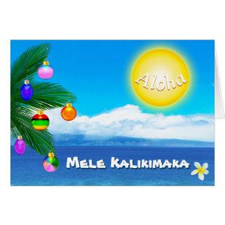 Tarjetas de Navidad hawaianas de encargo Mele