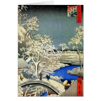 Tarjetas de Navidad japonesas retras para los días