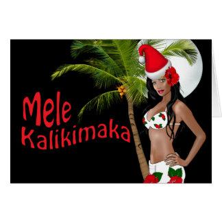 Tarjetas de Navidad modelas de Wahine Mele